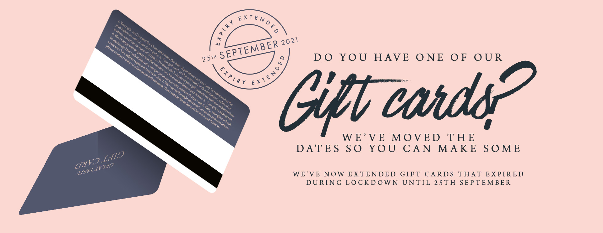 Give the gift of a gift card at The Oatlands Chaser