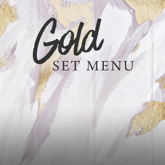Gold set menu at The Oatlands Chaser